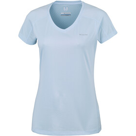 Columbia Zero Rules Camiseta manga corta Mujer, pale blue heath